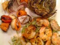 shrimp shish-kabob