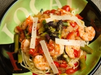 grilled shrimp and angel hair pasta