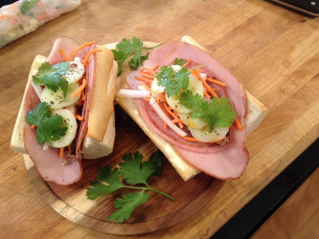 Vietnamese Style Banh Mi Sandwich